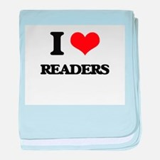 I Love Readers baby blanket