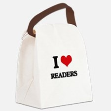 I Love Readers Canvas Lunch Bag