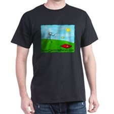 Stick Player CornholePlanet.com Logo T-Shirt