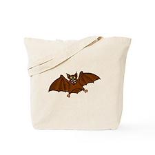 Brown Bat Tote Bag
