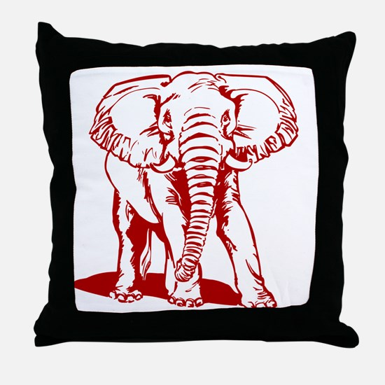 Unique Red elephant Throw Pillow