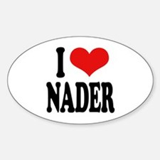 I Love Nader Oval Decal