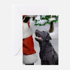 Cute Black lab Greeting Cards (Pk of 10)