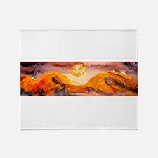 Landscape, sunset, art Throw Blanket