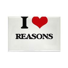 I Love Reasons Magnets