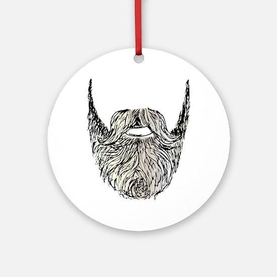 beard Ornament (Round)