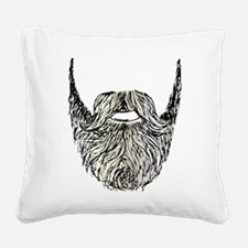 beard Square Canvas Pillow