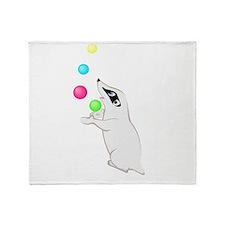 Badger Juggling Throw Blanket