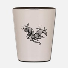 Armadillos Dancing Shot Glass