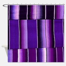 Purple serape Shower Curtain