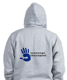 Massage Therapist Hand Zip Hoodie