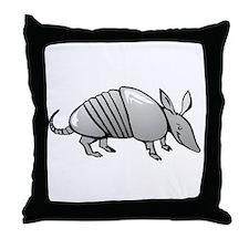 Grey Armadillo Throw Pillow