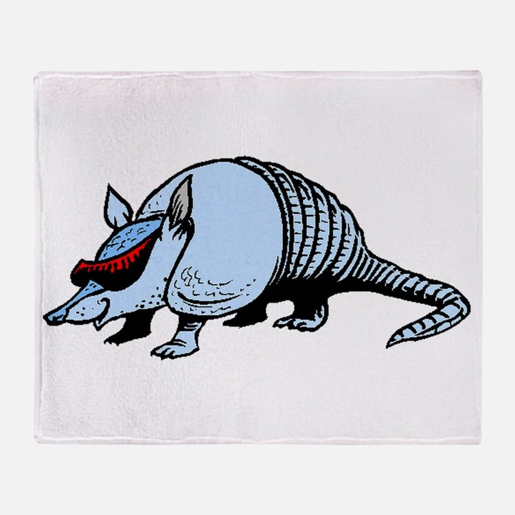 Cool Armadillo Throw Blanket
