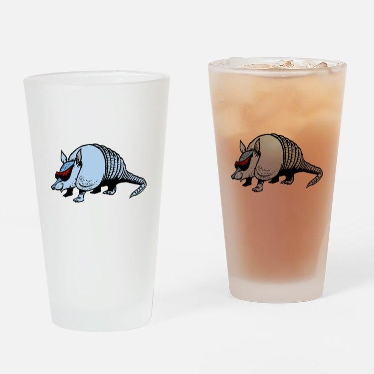 Cool Armadillo Drinking Glass