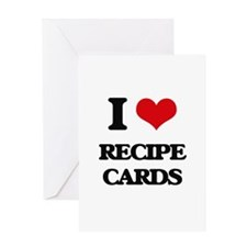 I Love Recipe Cards Greeting Cards