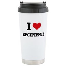 I Love Recipients Travel Mug