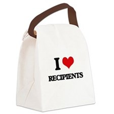 I Love Recipients Canvas Lunch Bag