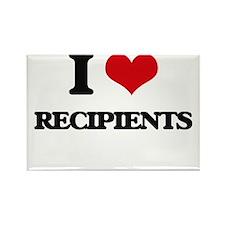 I Love Recipients Magnets