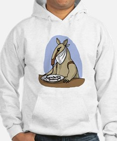 Anteater Eating At Table Hoodie