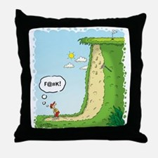 The Sand Trap from Hell Throw Pillow