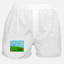 Stick Player I Heart Cornhole Boxer Shorts