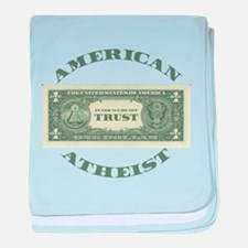 American Atheist baby blanket