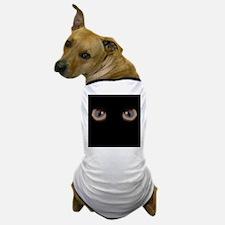 Eyes Peering in the Dark Dog T-Shirt