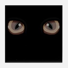 Eyes Peering in the Dark Tile Coaster