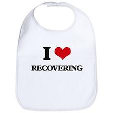 I Love Recovering Bib