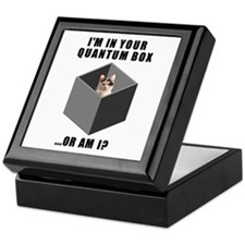 Quantum Cat Keepsake Box