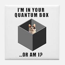 Quantum Cat Tile Coaster