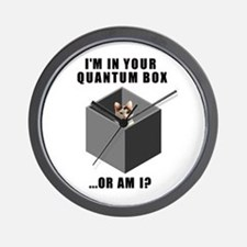 Quantum Cat Wall Clock
