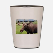 Wanna moose around? Alaskan moose Shot Glass