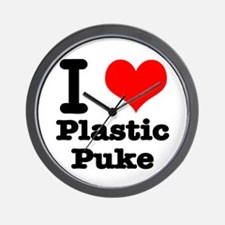 I Heart (Love) Plastic Puke Wall Clock