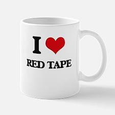 I Love Red Tape Mugs