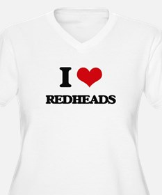 I Love Redheads Plus Size T-Shirt