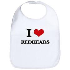 I Love Redheads Bib