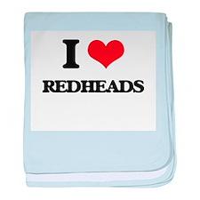 I Love Redheads baby blanket