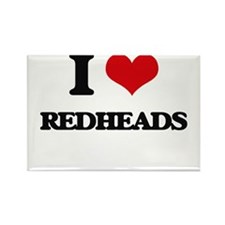 I Love Redheads Magnets