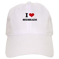 I Love Redheads Baseball Cap
