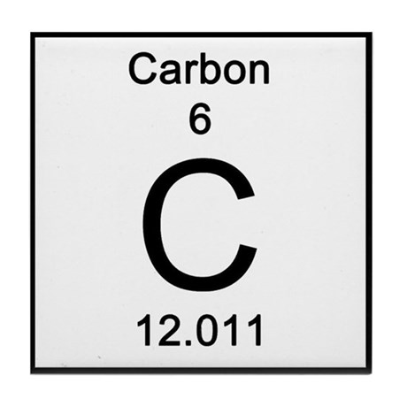 6 Carbon Tile Coaster By Science Lady