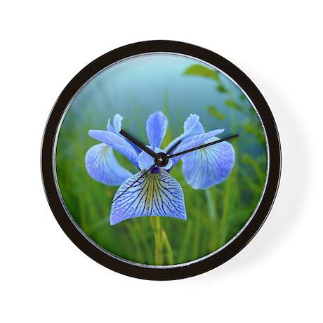 Wild Iris Wall Clock
