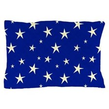 blue with stars Pillow Case