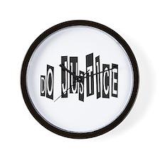 dojustice_trans.png Wall Clock