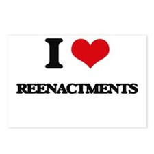 I Love Reenactments Postcards (Package of 8)