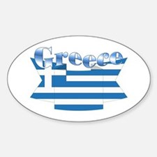 Greece Flag Ribbon Decal
