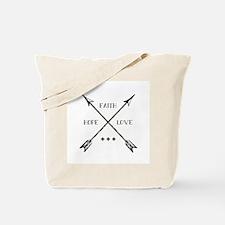 Faith Hope & Love Tote Bag