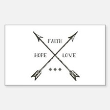 Faith Hope & Love Decal