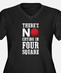 No Crying In Four Square Plus Size T-Shirt