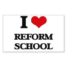 I Love Reform School Decal